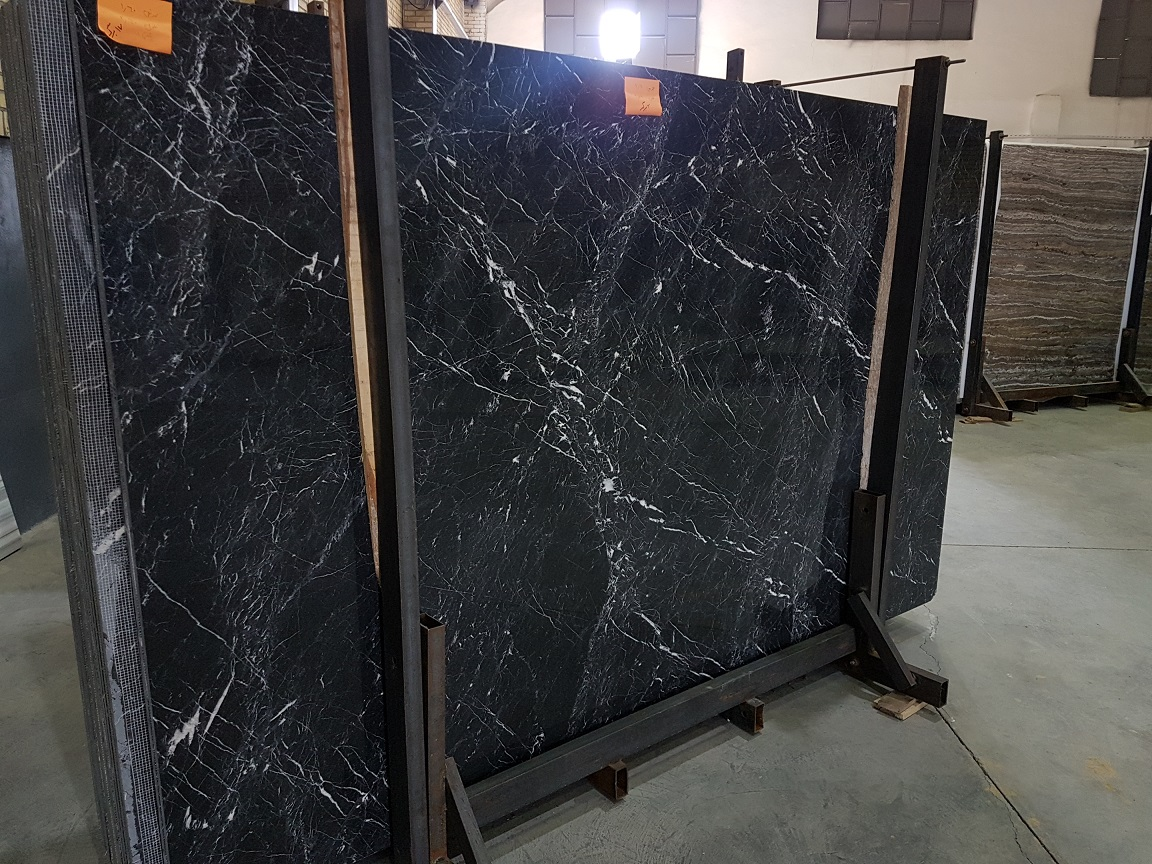 Black Marble Polished Slabs