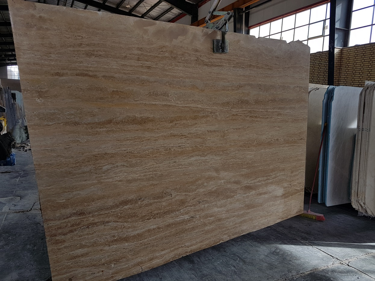 Iranian Light Brown Travertine Slabs