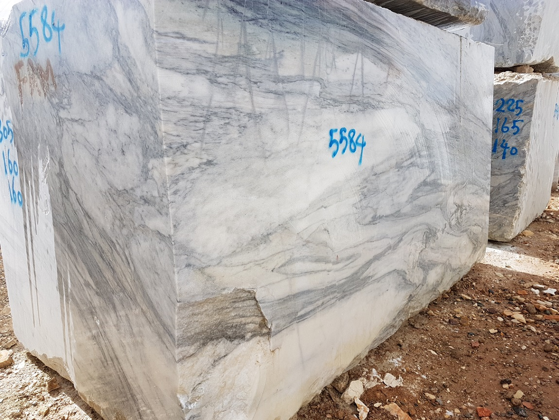 Crystal White Marble Natural Stone Blocks