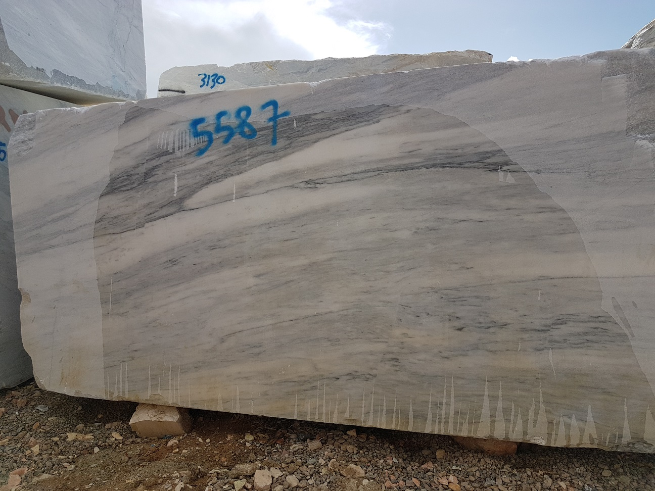 Crystal White Marble Blocks Iranian White Natural Blocks
