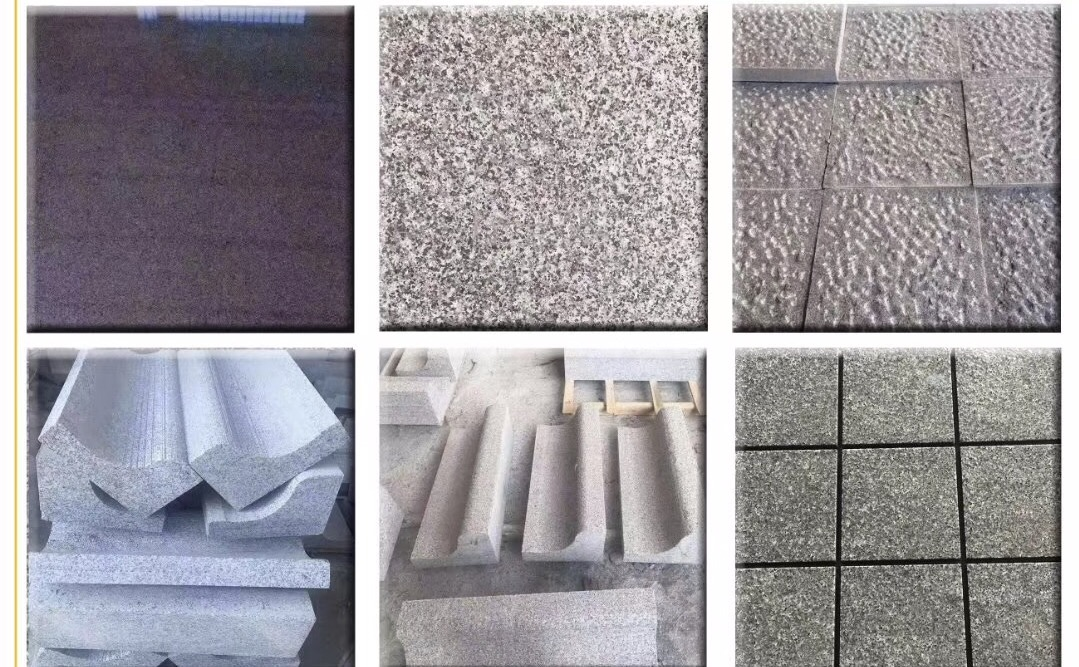 Grey Granite paving tiles dark granite paving stone