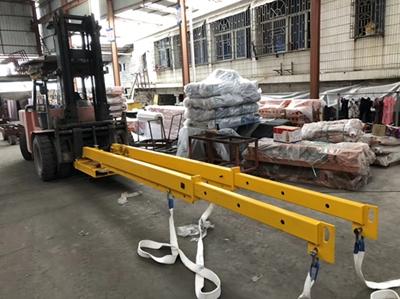 Bundle slabs loading & unloading double telescopic
