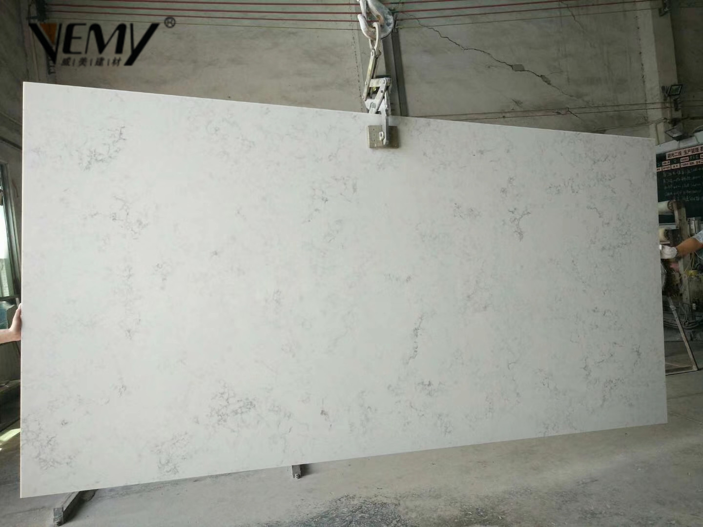 Carrara White Quartz Stone Slabs Countertops