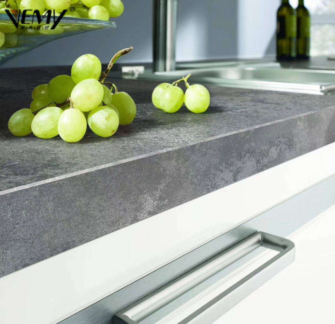 Grey Concrete Quartz Stone for Kitchen Countertops