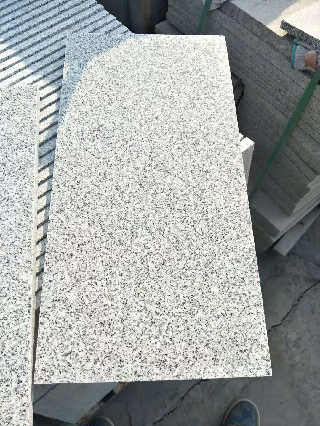 White polished granite