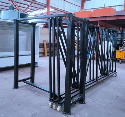 Vertical Glide Out Slab Storage Rack