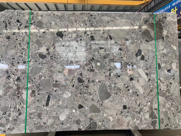 New Material Fossial Grey Marble Natural Terrazzo