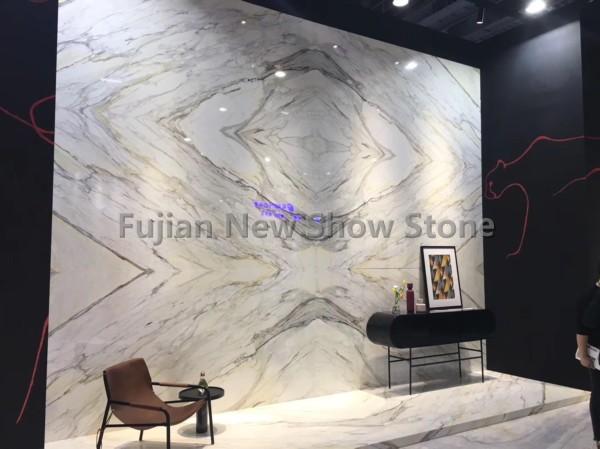 Calacatta white marble slab