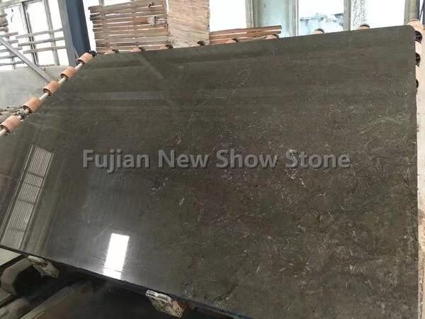 Olive Gray marble slab
