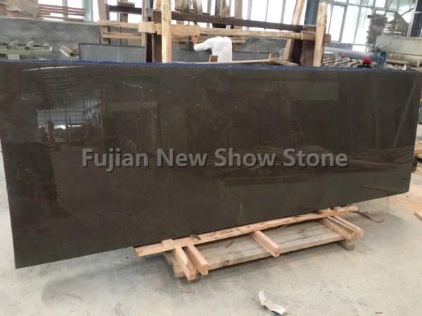 Overlength Olive Gray marble slab