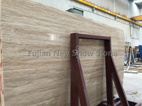 Beige teavertine slab