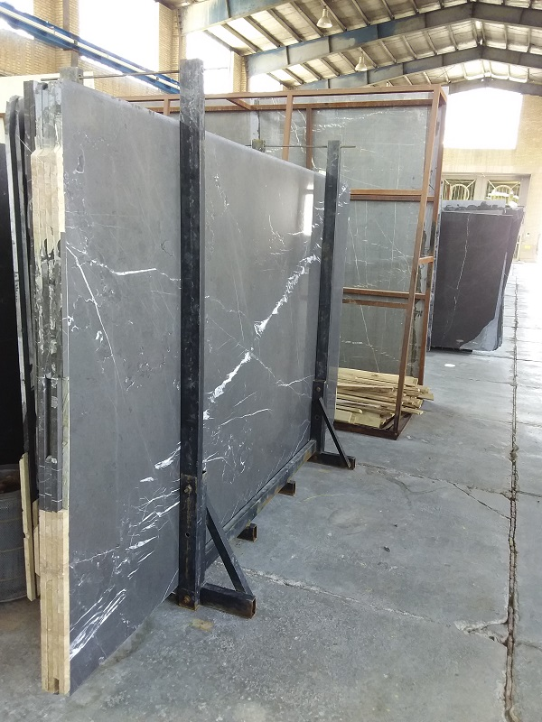 brushed pietra gray marble slab