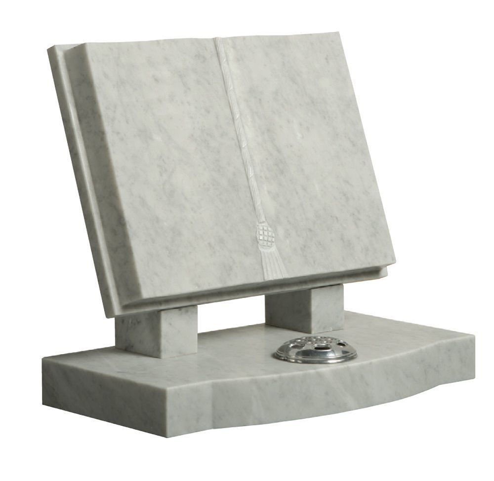 Grey Open Book Granite Stone Tombstones