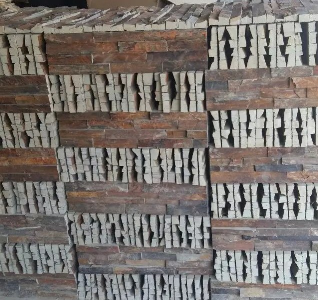 China Natural Rusty Slate Stone Rough Surface Ledge Stone Rustic Stone Indoor and Outdoor Wall Cladding