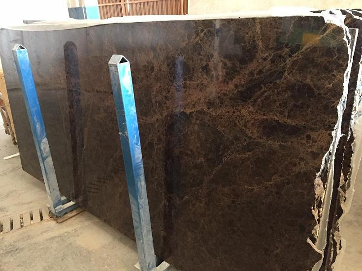 Dark Emperador Brown Polished Marble Slabs