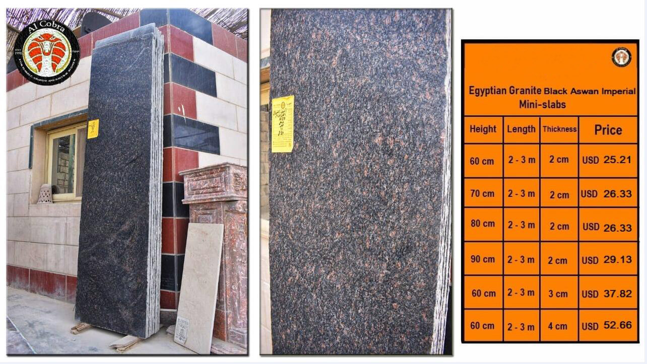 Black Granite Black Aswan Imperial Slabs