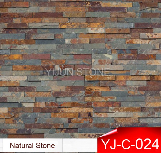 China Rusty Slate Wall Cladding Wall Panel Natural Culture Stone Hebei Province Factory