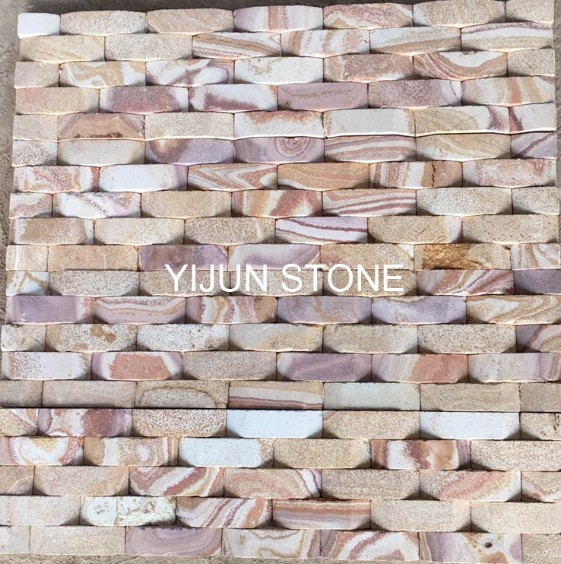 Sandstone Exposed Wall Stone for Sale Wall Natural Sandstone Wall Decor from Hebei China Polished Surface