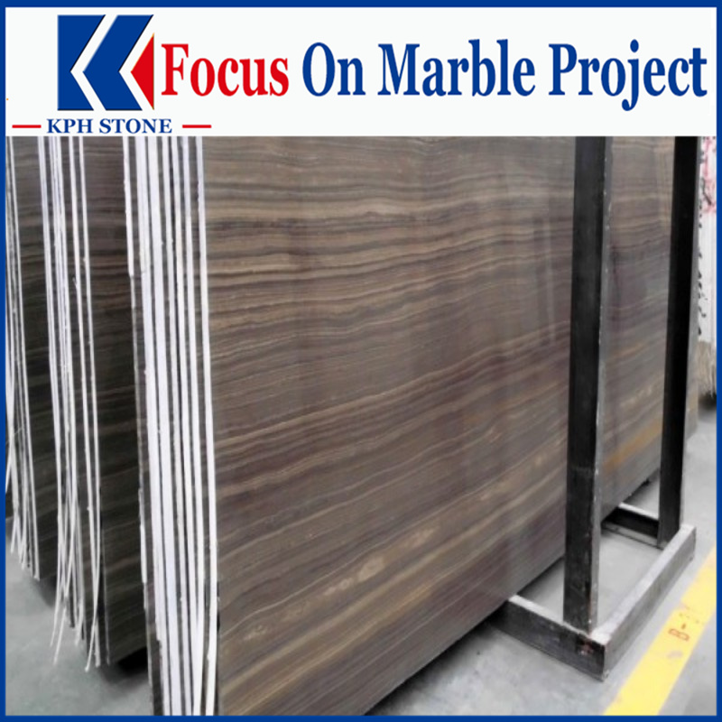 Obama Wooden Grain Marble Slabs for Shangri La Apartments