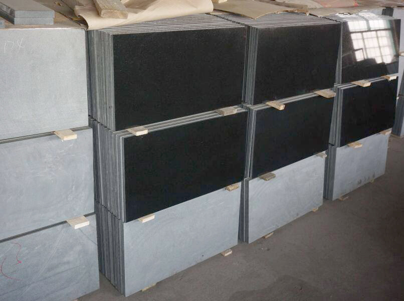 absolute black granite tiles 24x12 inch