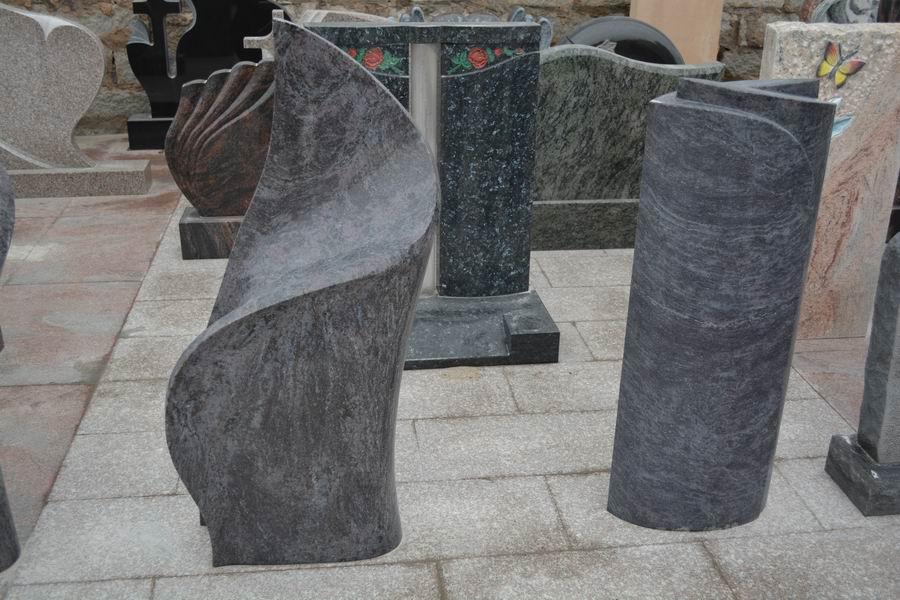 Granite tombstone Bahama Blue  Vizag Blue