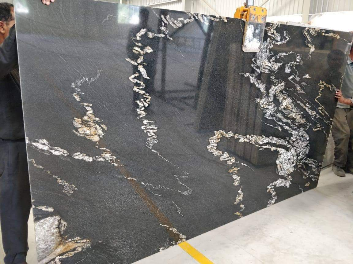 Alaska Black Granite Slabs