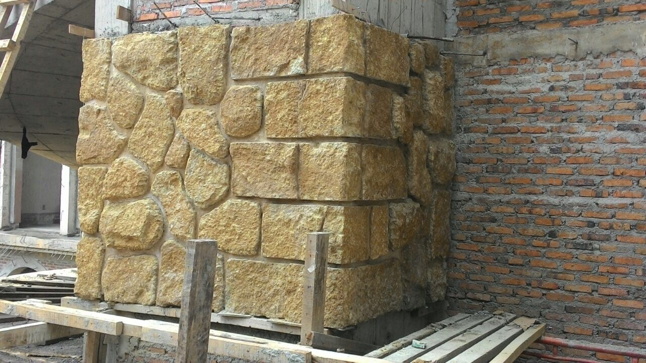 Brown Amanjiwo Stone Bali Stone Wall Cladding
