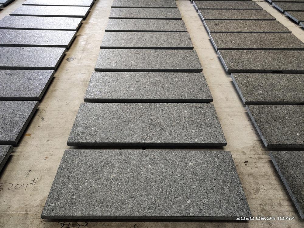 anti slip black granite tile