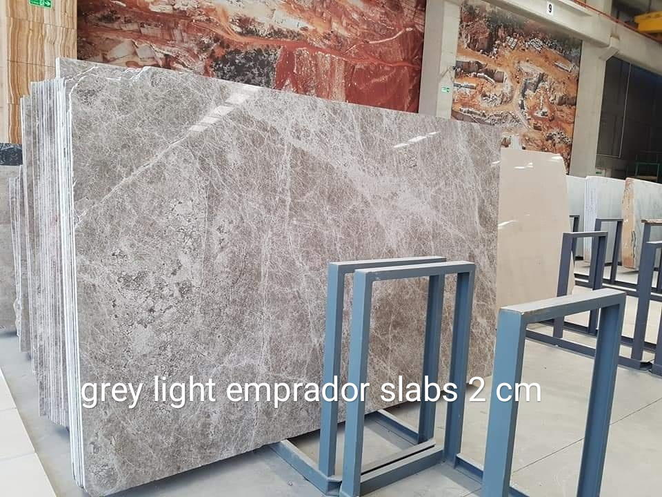 Aqua Grey Emprador Marble Slabs