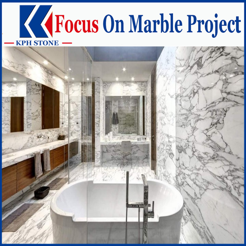Arabescato White Marble bathroom vanity tops for hotel