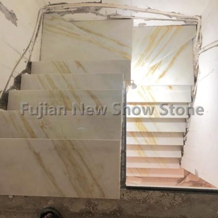 Ariston White golden marble