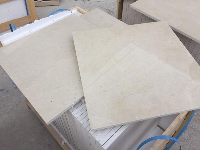 Crema Marfil Polished Beige Marble Tiles