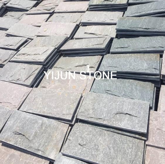 China Yijun Natural Slate Mushroom Stone Tile Real Stone