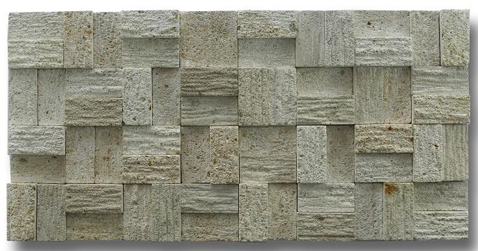 Bali Limestone Cladding Strips Shape