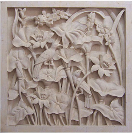 Bali Stone Wall Carving, Indonesia Handcarved Stone