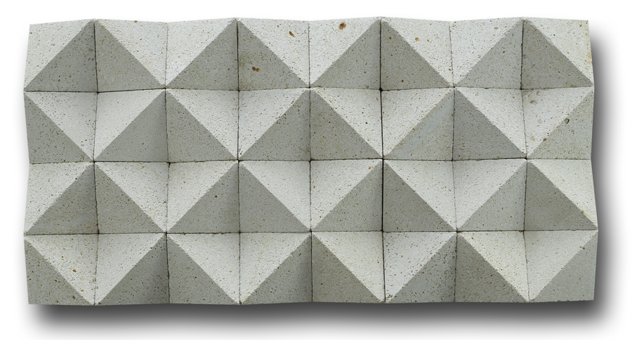 Bali White Stone Wall Cladding Diamond Shape
