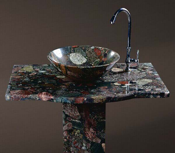Low Price Wash Basin with China Multi-color Granite
