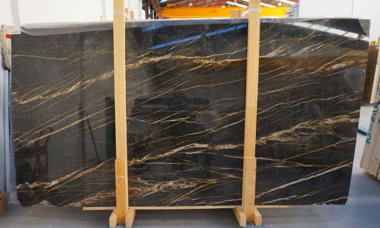 Saint Laurent Black Polished Marble Slabs