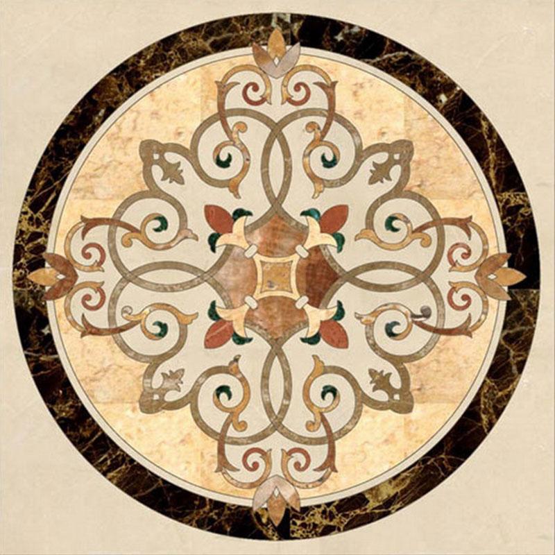 bursa beige marble floor design water jet medallion