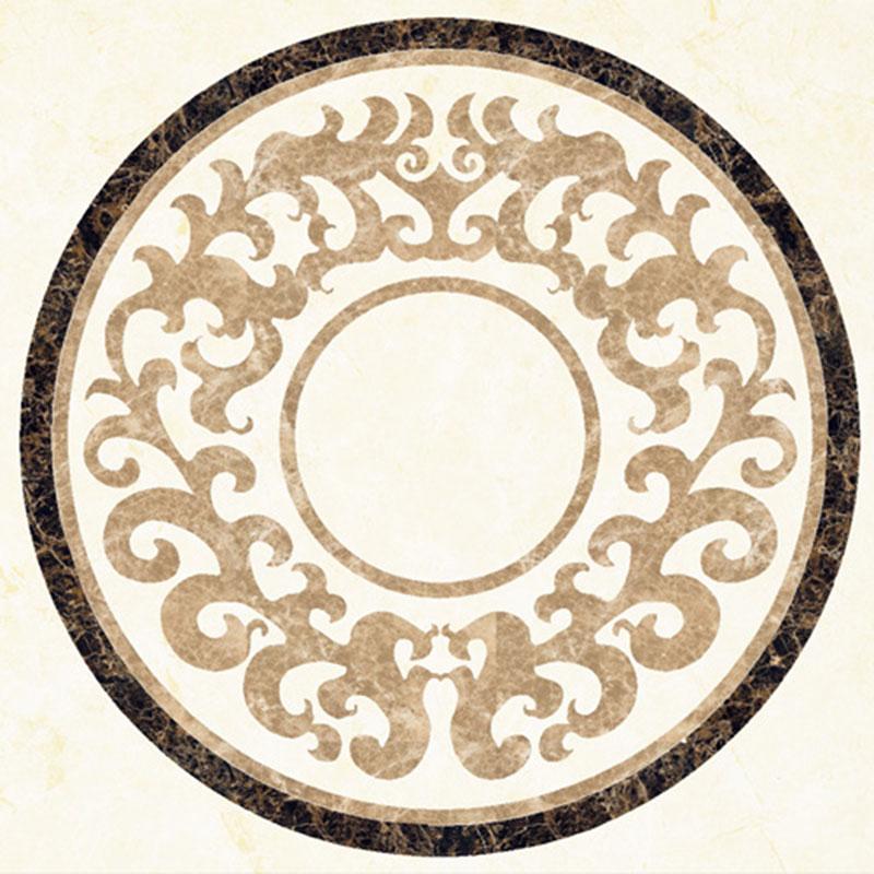 Custom round waterjet pattern