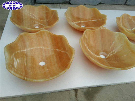 Beige Yellow Onyx Basin