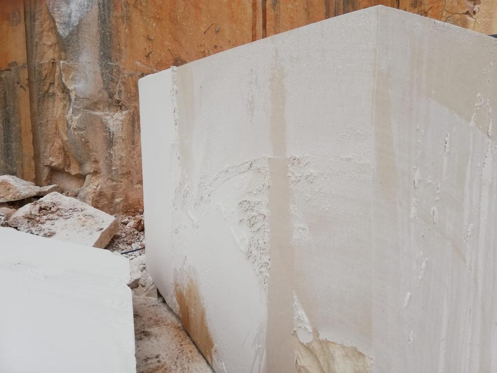 beige limestone slab