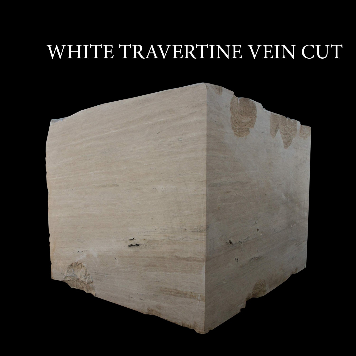 white Travertine Vein Cut Blocks
