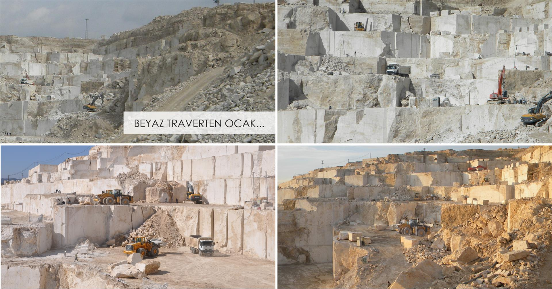 White Travertine Quarry