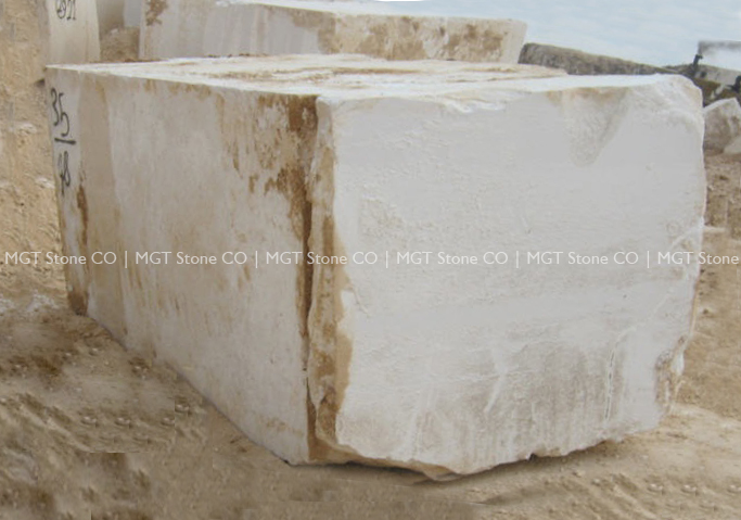 Bianco Coral Marble Block