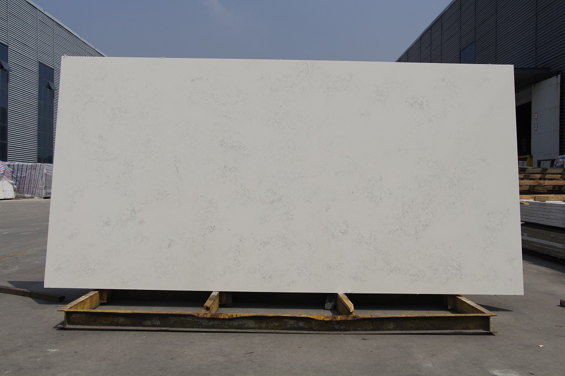 bianco carrara quartz stone slab