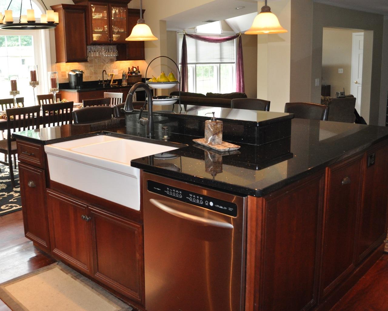 Black kitchen top