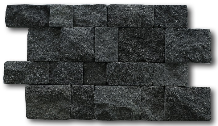 Bali Black Lavastone Tumbled Cladding