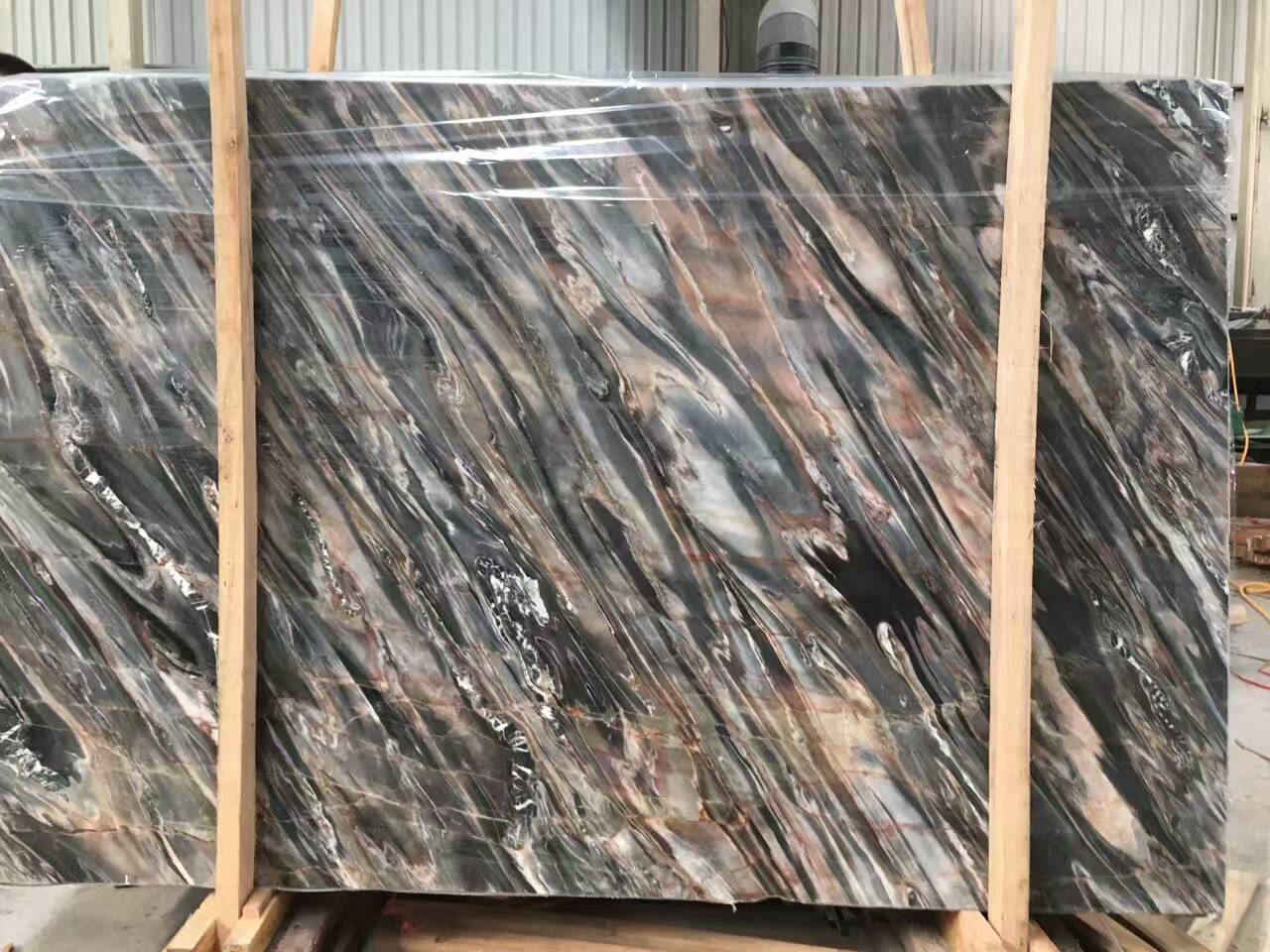 Chinese marble black river