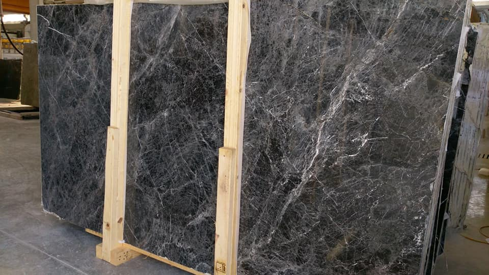 Black Emprador Marble Slabs